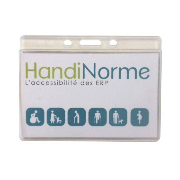 Porte-badge PVC rigide - 90 x 60 mm - Lot de 50