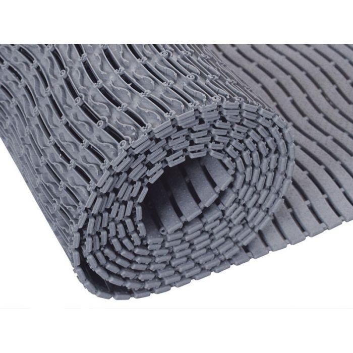 Caillebotis milieu humide, surface antidérapante rouleau gris