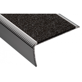 Nez de marche équerre polymère - Noir - 1150*30mm