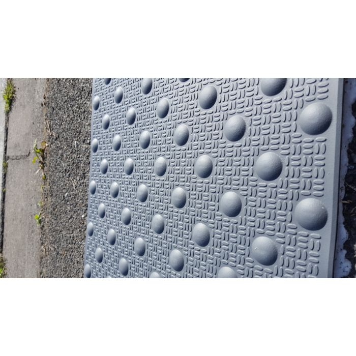 Dalle Podotactile En Résine Avec Adhésif épais Résine Méthacrylate 3 Formats Extérieure