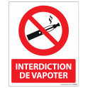 Panneau d'Interdiction de Vapoter