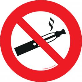 Panneau rond interdit de Vapoter