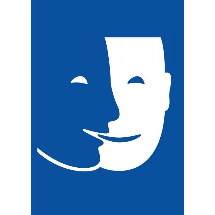 Panneau pictogramme S3A - symbole d'accueil, d'accompagnement et d'accessibilité