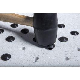 Lot de 250 clous podotactiles à frapper en polymère Noir