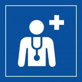 """Pictogramme PI PF 044 """"Centre médical ou médecin en Vinyle Souple"""" ISO 7001"""