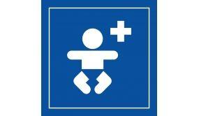 Picto PI PF 036 - Centre médical pour enfants - en Vinyle Souple Autocollant ISO 7001