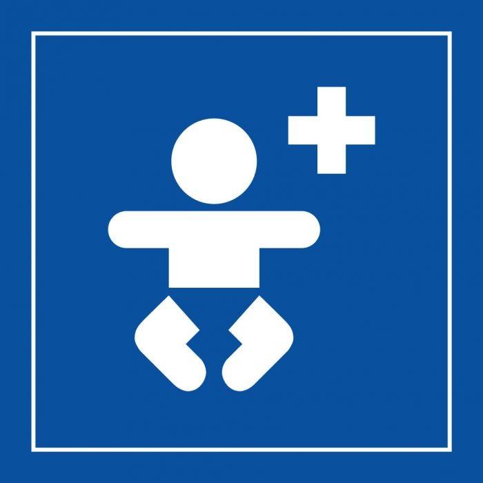 """Pictogramme PI PF 036 """"Centre médical pour enfants"""" en Vinyle ISO 7001"""