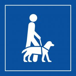 pictogramme chien guide d'aveugle