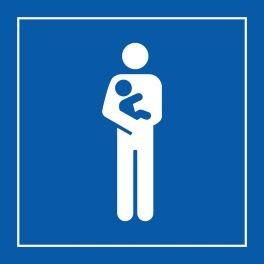 """Pictogramme PI PF 058 """"Accès prioritaire aux personnes avec enfant en bas âge"""" en Vinyle Souple ISO 7001"""