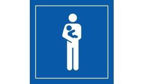 Picto PI PF 058 - Accès prioritaire aux personnes avec enfant en bas âge - en Vinyle Souple Autocollant ISO 7001