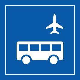"""Pictogramme PI TF 027 """"Autobus d'aéroport"""" en Vinyle souple autocollant ISO 7001"""
