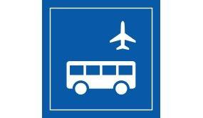 Picto PI TF 027 - Autobus d'aéroport - en Vinyle souple autocollant ISO 7001