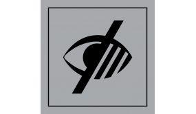 Picto PI PF 049 - Accessibilité, malvoyant - en Gravoply ISO 7001