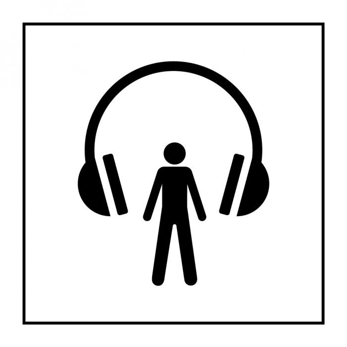 """Pictogramme PI TC 014 """"Audioguide"""" en Gravoply ISO 7001"""