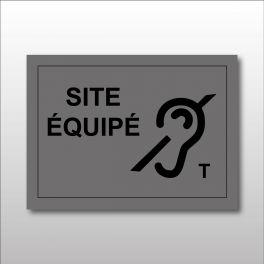 """Plaque gravée """"Site équipé T"""""""