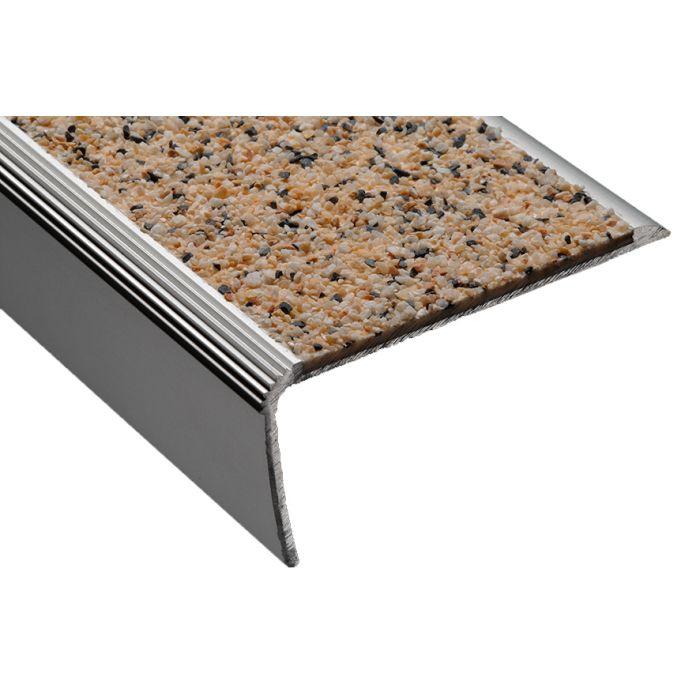 nez de marche querre en aluminium et insert min ral. Black Bedroom Furniture Sets. Home Design Ideas