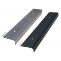 Lot de 5 nez de marche aluminium strié XL - Noir - 1 m
