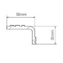 Nez de marches antidérapants en aluminium larmé VISILARM - par 5 COUPE