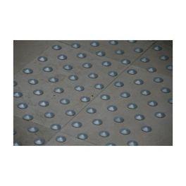 Lot de 150 plots podotactiles avec adhésif épais - Aluminium anodisé