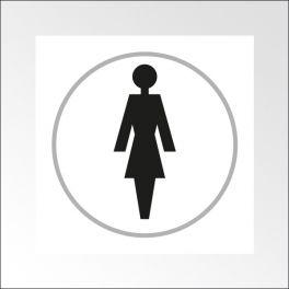 Panneaux FEMME - 150 x 150 mm - relief et braille