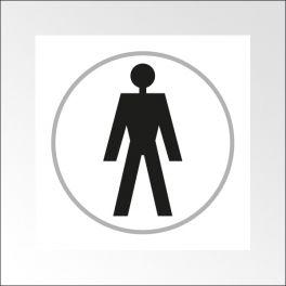 Panneaux Toilettes HOMME - 150 x 150 mm - relief et braille