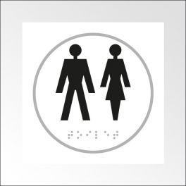 Panneau HOMME + FEMME - relief et braille