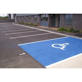 Peinture bleu stationnement PMR - 7kg
