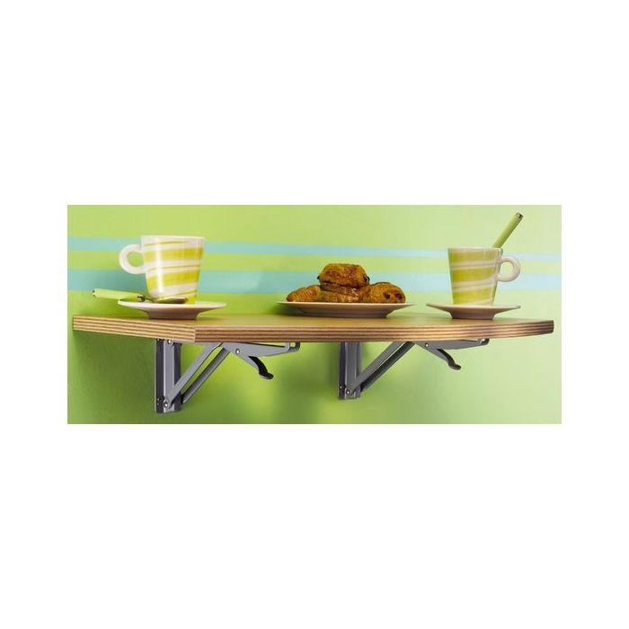 Tablette rabattable WOOD pour cabine d'essayage ou comptoir