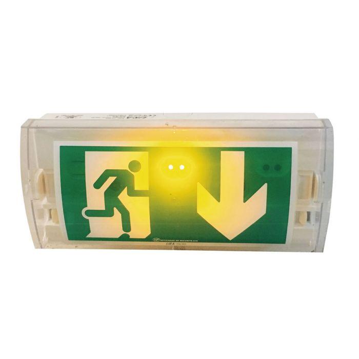 Bloc autonome vierge avec LED - Evacuation