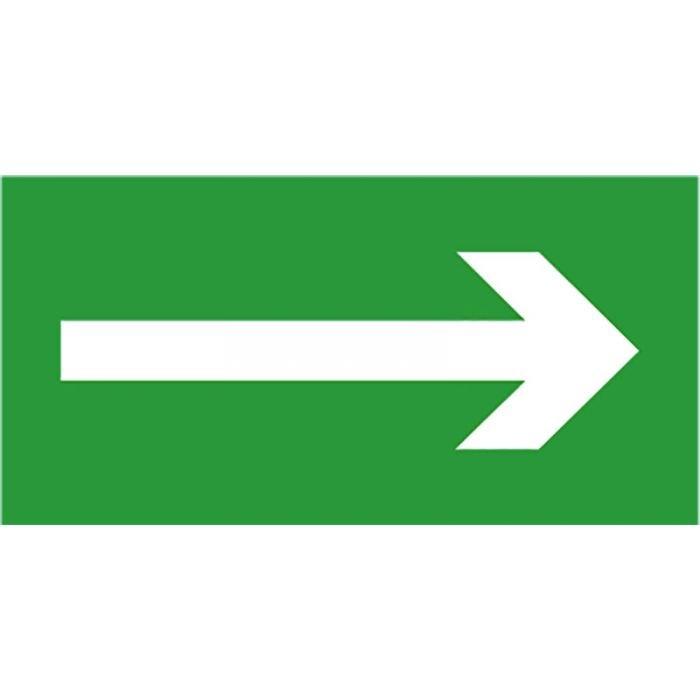 """Étiquette de signalisation """"Flèche"""" pour BAES bloc autonome 200 * 100 mm"""