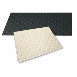 Dalle podotactile extérieure WATLEX - A coller - Noir - 3 dimensions