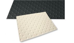 Dalle podotactile polyuréthane Noire WATLEX - A coller - Noir - 3 dimensions - extérieur