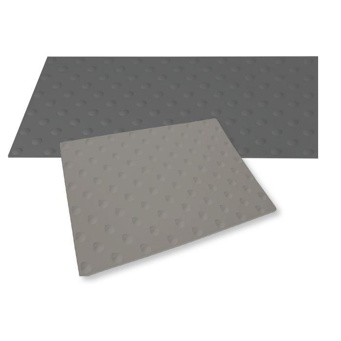 Dalle podotactile extérieure WATLEX - A coller - GRIS - 3 dimensions