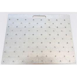Gabarit de perçage acier pour clous podotactiles