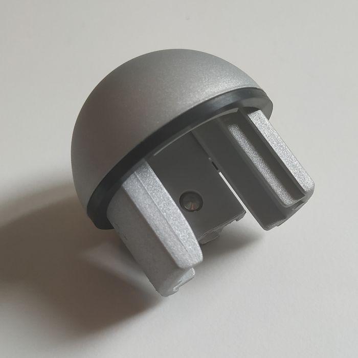 Bouchon rond pour main courante intérieure MALI en aluminium anodisé