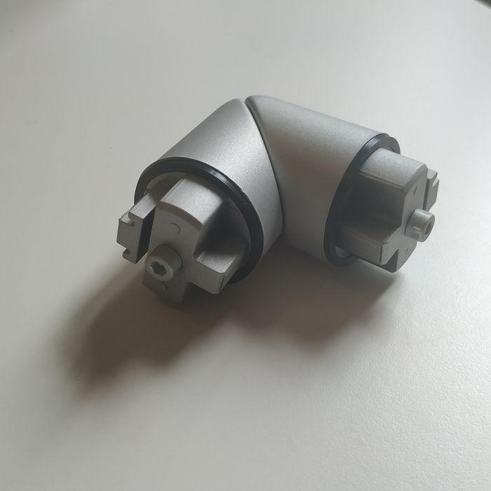 Angle sur mesure de 90° à 165 ° pour main courante intérieure MALI en aluminium anodisé
