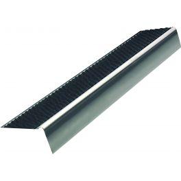 Nez de marche anti-dérapant nu en L inox 37 mm