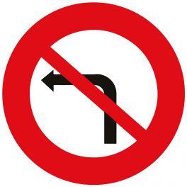 """Panneau de circulation """"interdiction de tourner à gauche"""""""