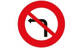 Panneau de circulation - interdiction de tourner à gauche