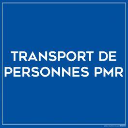 """Plaque magnétique pour véhicule """"Transport de PMR"""""""