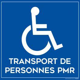 Plaque magnétique pour véhicule Transportant des personnes en situation de handicap