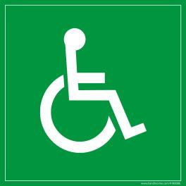 Panneau en PVC Symbole Handicapé