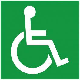 Panneau Photoluminescent Symbole Handicapé