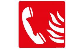 Panneau carré téléphone urgence