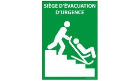 Panneau Siège évacuation