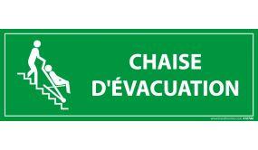 Panneau rectangulaire d'information - Chaise d'évacuation