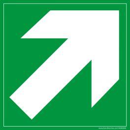 Signalétique Evacuation flèche diagonale en haut à droite