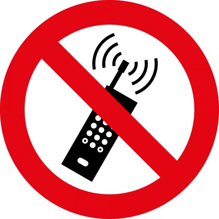 Panneau rond interdit au téléphone portable