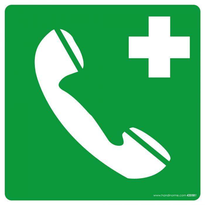 Panneau Téléphone fond vert