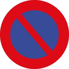 panneau rond interdit de stationner
